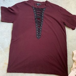 Forever 21 laced up tee